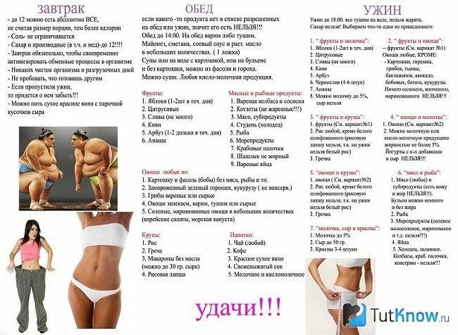 Эффективные диеты для похудения как похудеть без вреда