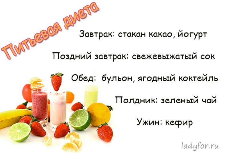 Меню На Питьевой Диете. Питьевая диета: что можно пить, как правильно выйти и каких результатов ждать