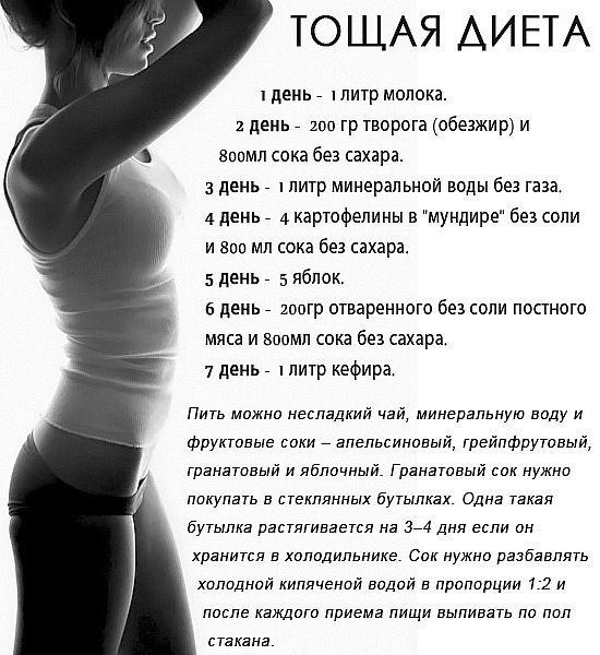 Несложные диеты за 10 дней